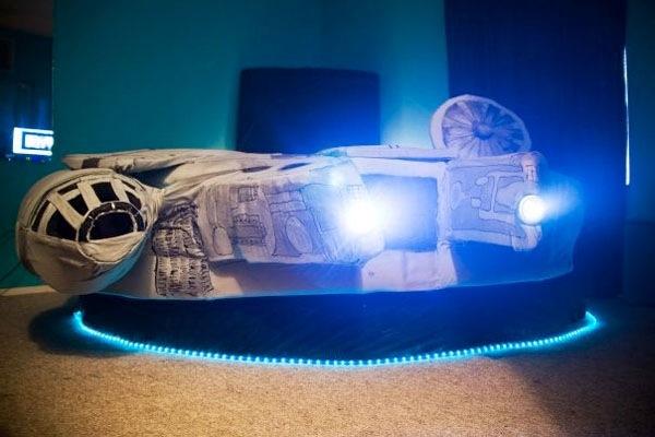 Millenium Falcon bed gets comfy in less than twelve parsecs
