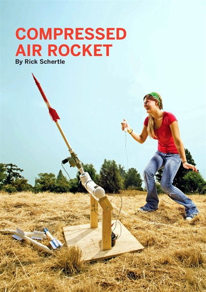 New in the Maker Shed: Compressed Air Rocket Kit