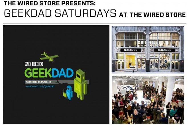 GeekDad Day at the Wired Holiday Store This Saturday (today)