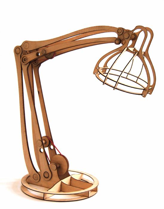 Cool CNC-friendly desk lamp design