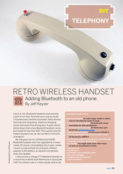 Weekend Project: Retro Wireless Handset (PDF)