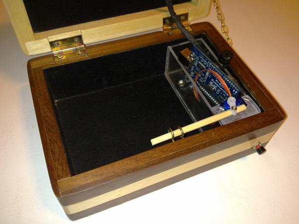Morse code puzzle box