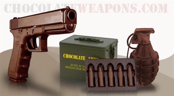 Chocolate guns and ammo