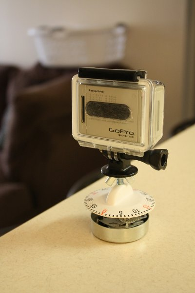 Panning time lapse using a kitchen timer
