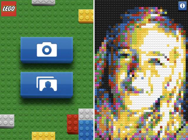 LEGO Photo app converts photo to LEGO mosaic