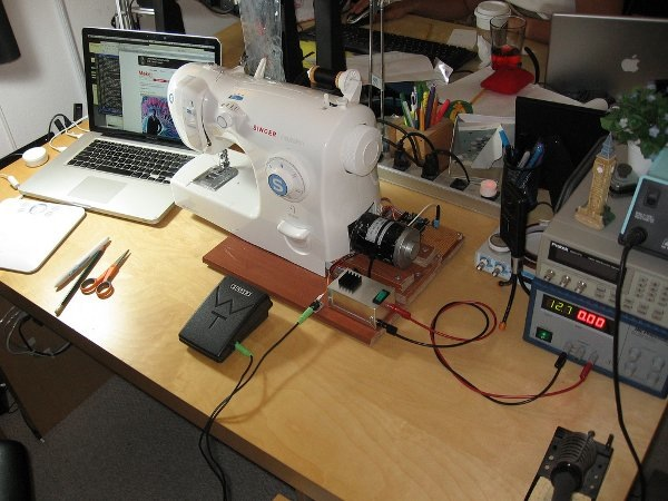 Upgrading a sewing machine