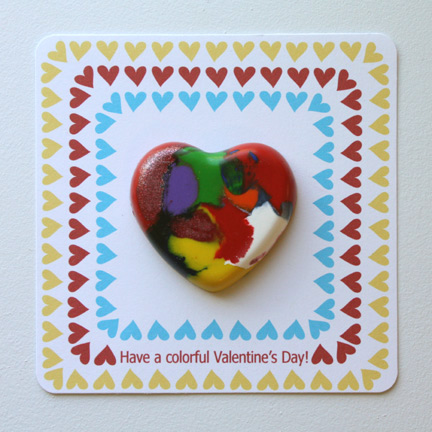 Crayon Heart Valentine's Day Cards