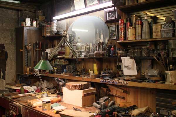 Old-school maker workshop