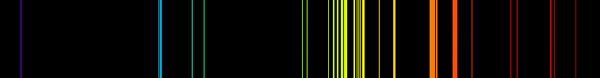 Atomic emission spectrum scarf
