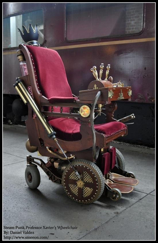 Steampunk Professor Xavier Wheelchair Project