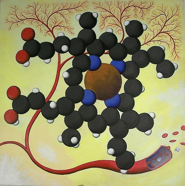 Paintings of molecules