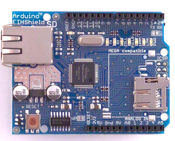 In the Maker Shed: Arduino Ethernet shield