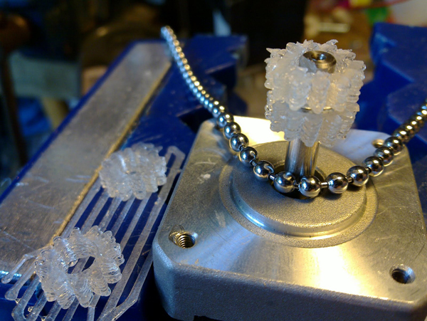 Ball-chain gears on Thingiverse