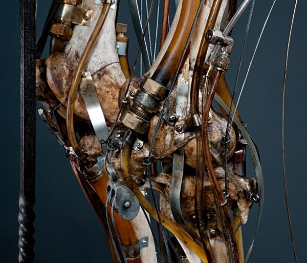 Biomechanical steampunk taxidermy