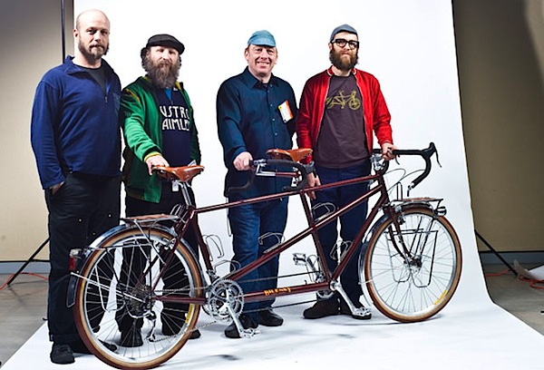 Winners at the North American Handmade Bicycle show