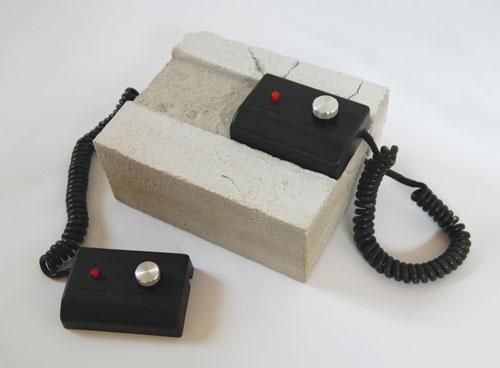 Concrete pong console