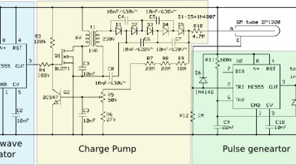 Geiger Counter Schematic - Electricity Site on telephone circuit schematic, tesla coil circuit schematic, metal detector circuit schematic, geiger counter circuit board,