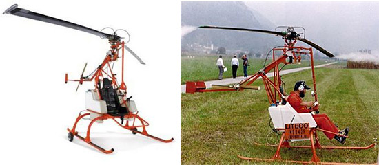 Helicopter with hydrogen-peroxide-rocket-powered blades