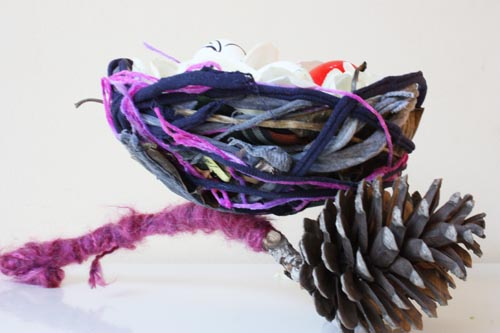 How-To: Bird's Nest From Recycled Materials