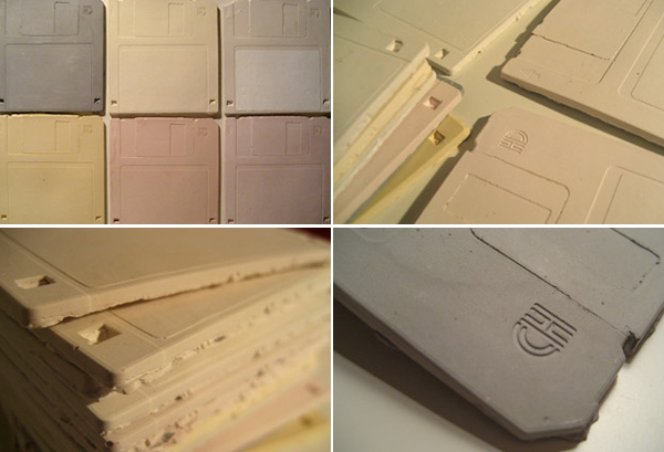Floppy disk ceramic tiles
