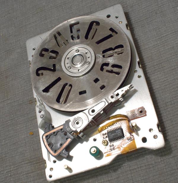 Faux-POV HDD clock