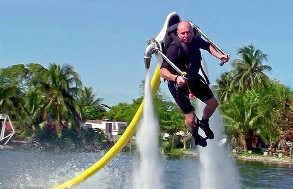 """Jet ski + jet pack = """"Jetlev"""""""
