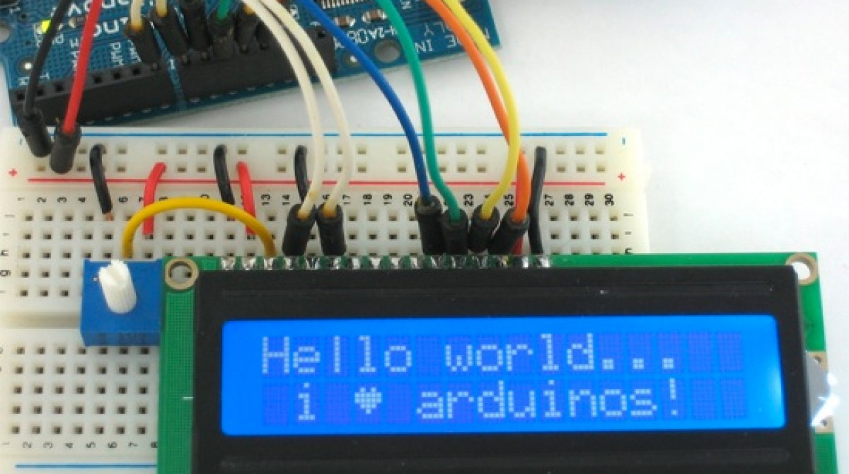 Arduino Tutorial Connecting A Parallel Lcd Make Wiring Article Featured Image