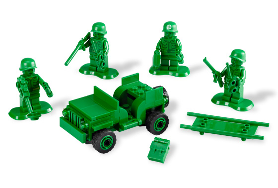 Lego's take on classic green army men