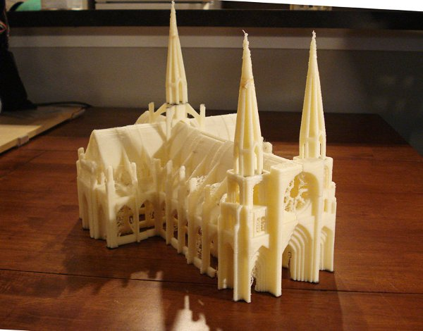 MakerBotted Gothic cathedral does not require legion of serfs
