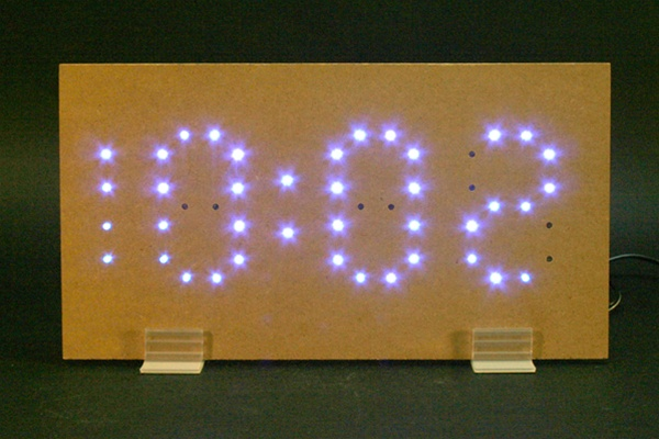 In the Maker Shed: Blue LED Clock Kit on sale