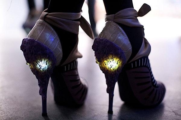 LED high heels