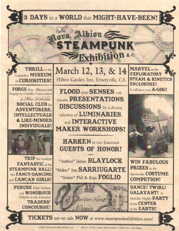 Nova Albion Steampunk Exhibition, THIS weekend!