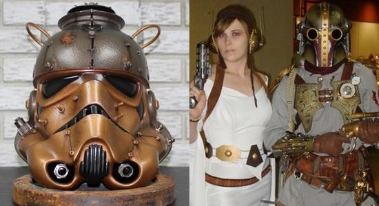 Steampunk Stormtrooper, Boba Fett, and Princess Leia