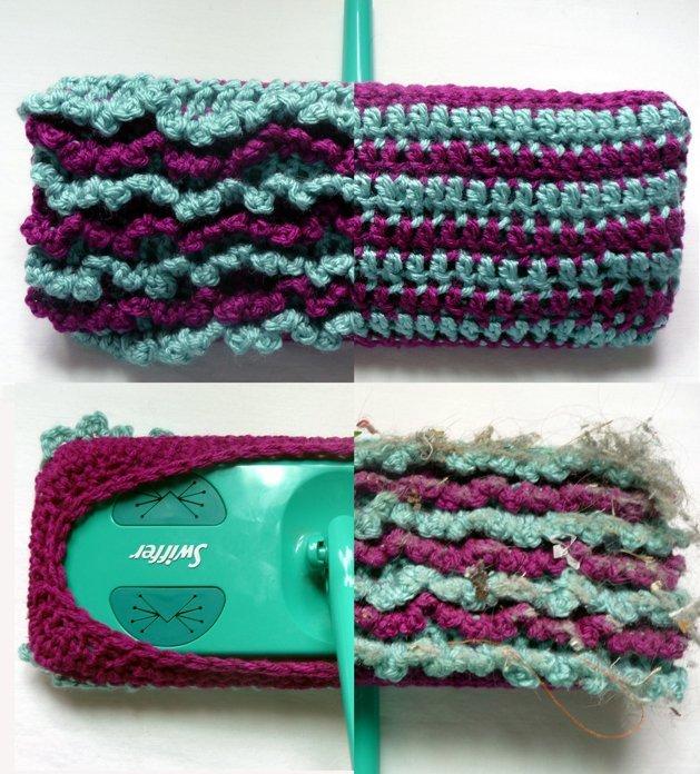 Crochet Reversible Swiffer Socks!