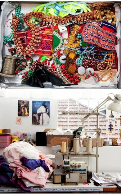 Tina Kalivas' Studio Space