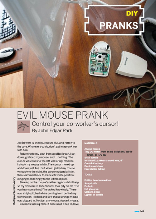 Weekend Project: Evil Mouse Prank (PDF)