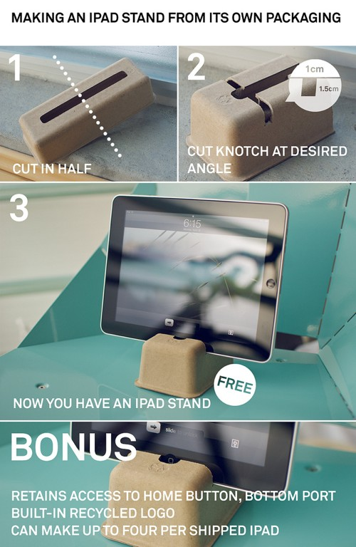Make an iPad stand from its own packaging materials