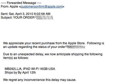 Why I am not getting an iPad…. because Apple gave my pre-order to someone else