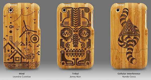 Custom engraved bamboo iPhone cases