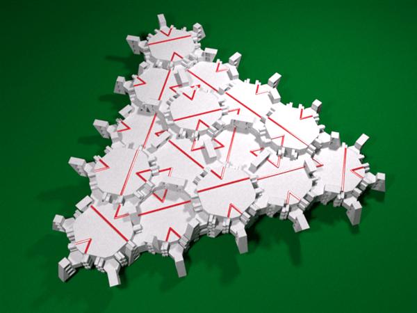 Socolar-Taylor aperiodic tile models on Thingiverse