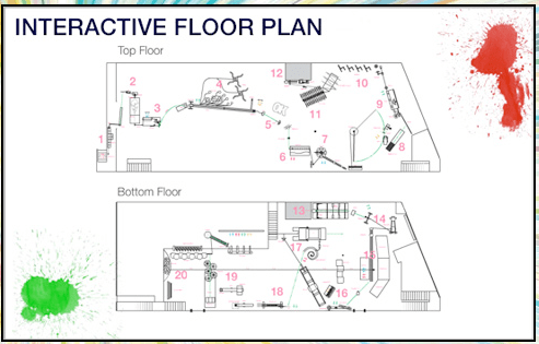 OK Go Rube Goldberg machine interactive floor plan