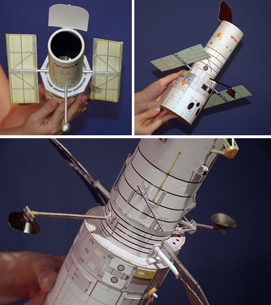 How-To:  Build a model Hubble Space Telescope
