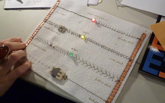 Soft circuits workshops in SF