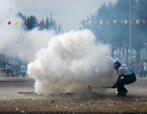 Utterly Insane Sledgehammer Fireworks During Carnival