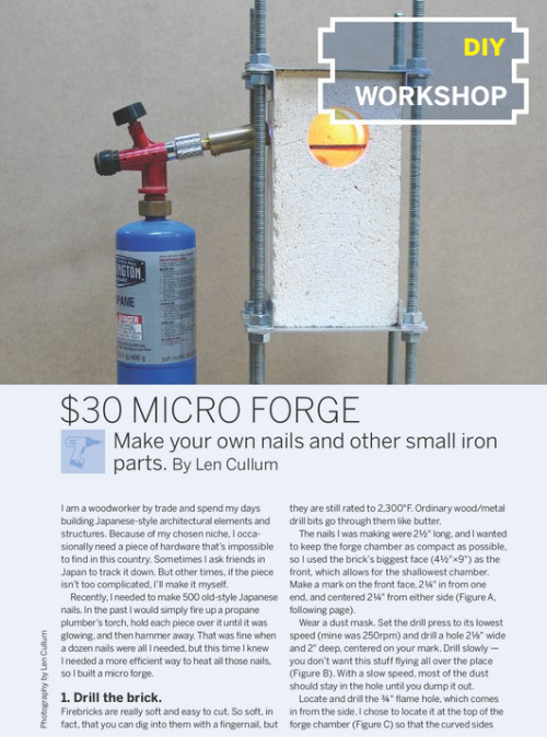 Weekend Project:  Micro Forge (PDF)