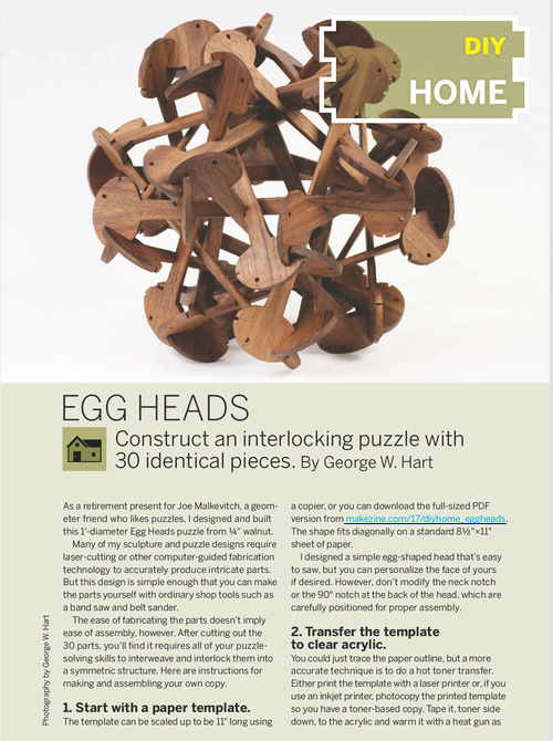 Weekend Project: Egg Heads (PDF)