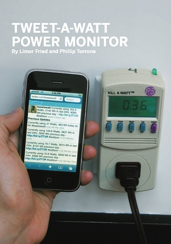 Twittering power meter from MAKE Volume 18: ReMake America now works with Google Powermeter