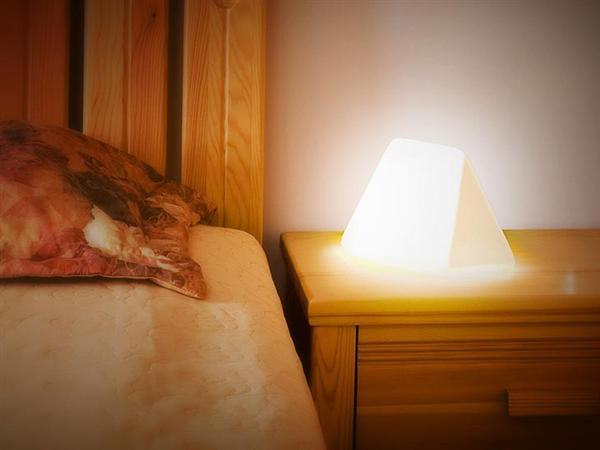 Clever bedside reading lamp + bookmark