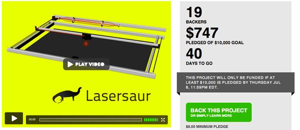Lasersaur, an open-source laser cutter