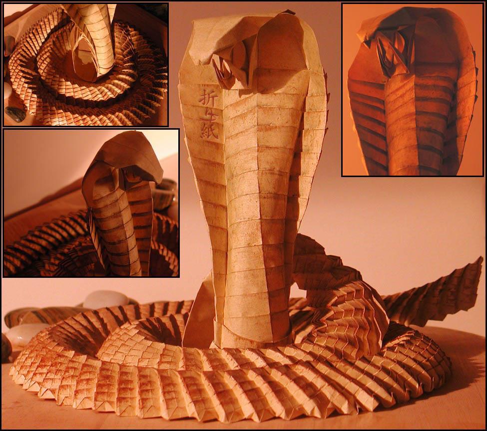 Gorgeous origami cobra